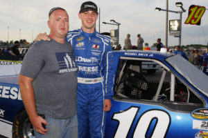 NASCAR Camping World Truck Series DrivinÕ For Linemen 200 Gateway Motorsports Park, Madison, IL USA Saturday 17 June 2017 Austin Cindric, Draw-Tite Ford F150 and guest World Copyright: Russell LaBounty NKP